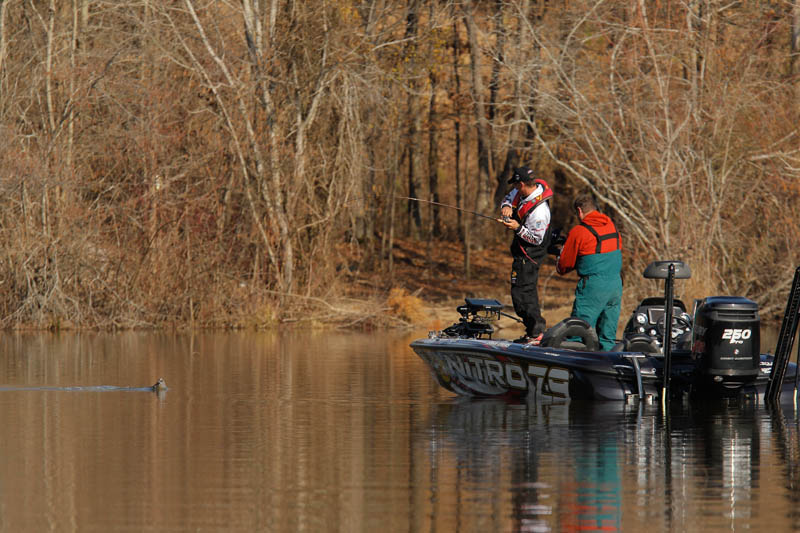 The top Team Trail finishers from across the country will have the chance to compete on the 2014 Bassmaster Classic fishery as the 2015 Toyota Bonus Bucks Bassmaster Team Championship heads to Lake Guntersville out of Marshall County, Ala., Dec. 9-12. Photo by Seigo Saito/Bassmaster