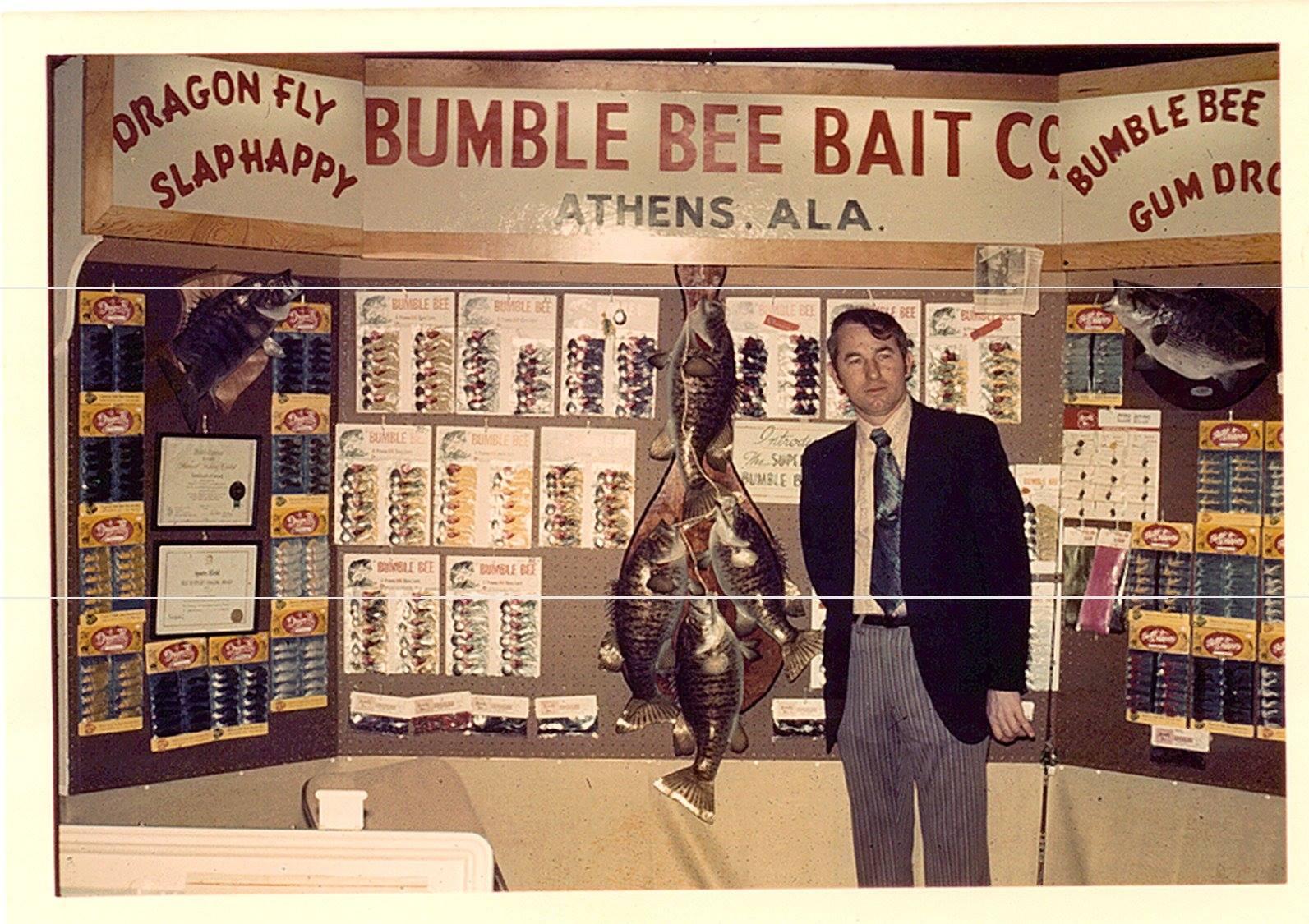 1974 Bill Huntley bumble bee baits tackle show