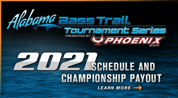 Alabama Bass Trail Tournament Series 2021 Schedule and Payout